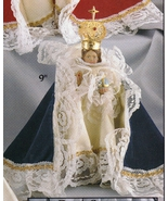 Infant Jesus of Prague - 9 inch Statue with Green Velvet Gown - $99.95