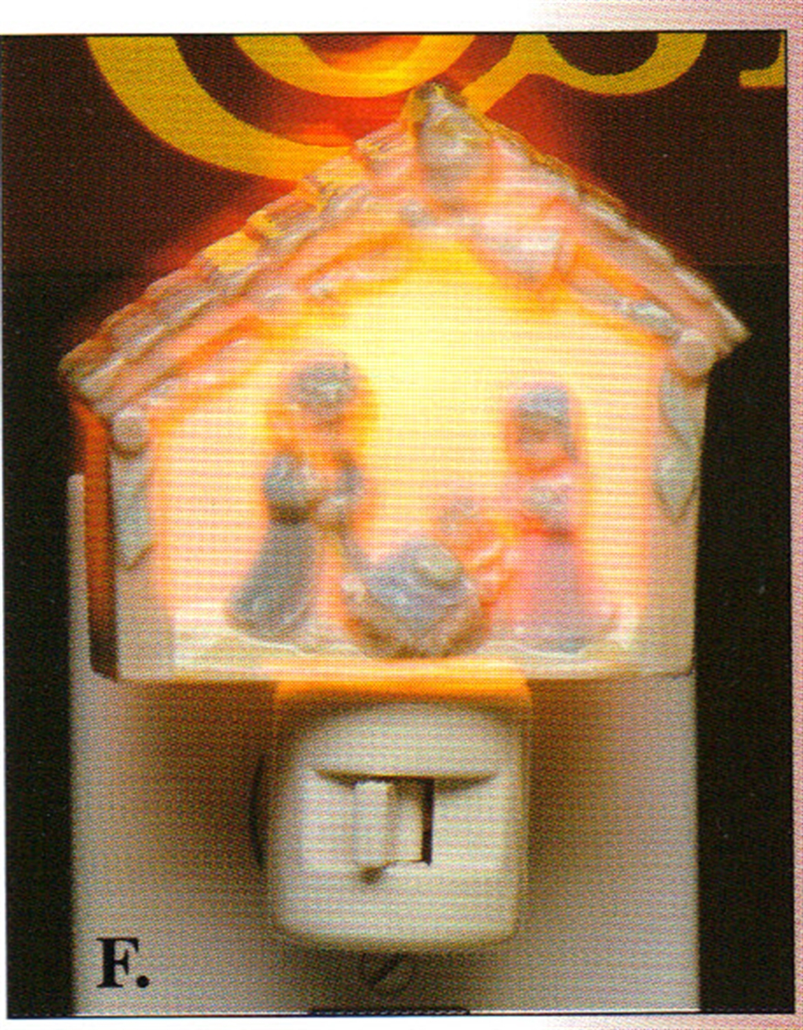 Moshy brothers nativity wall night light f.5679