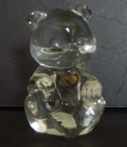 "November Fenton 3 1/2"" Crystal Bear BIRTHSTONE TOPAZ - $7.90"