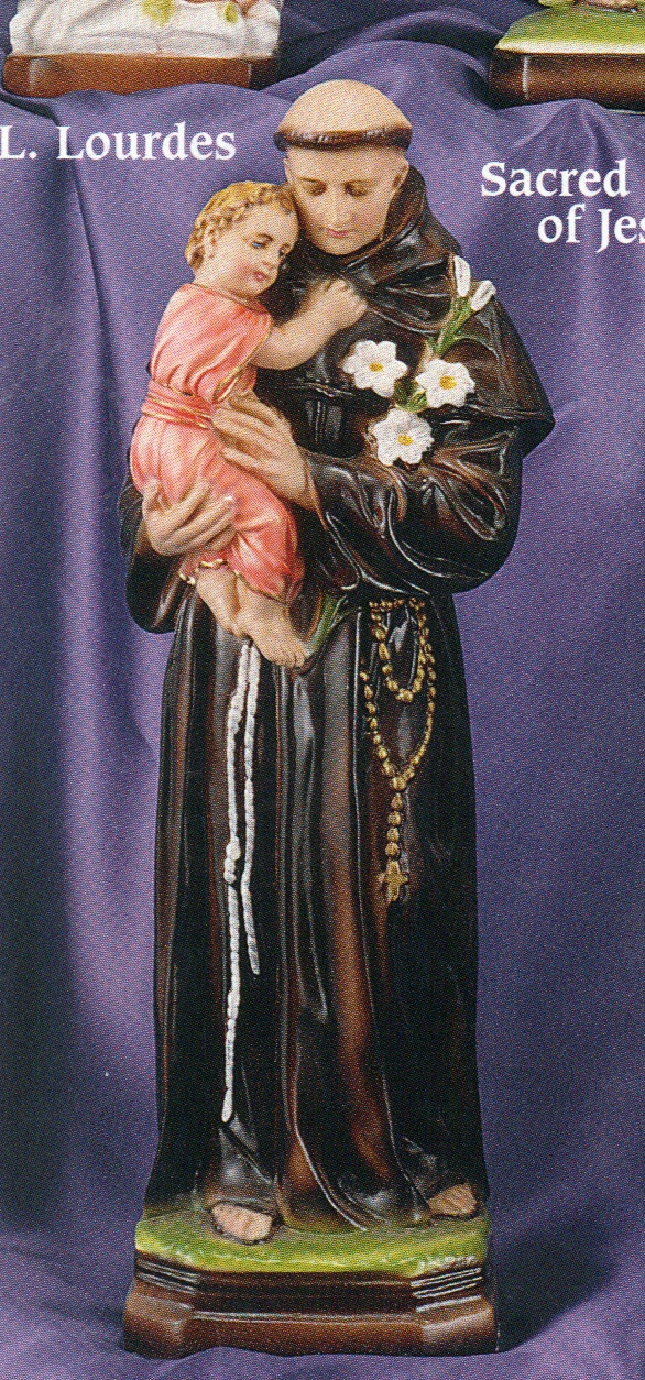 St. anthony 16 inch statue