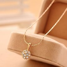Knock  jewelry wholesale crystal ball pendant transfer bead necklace female smal - $9.74