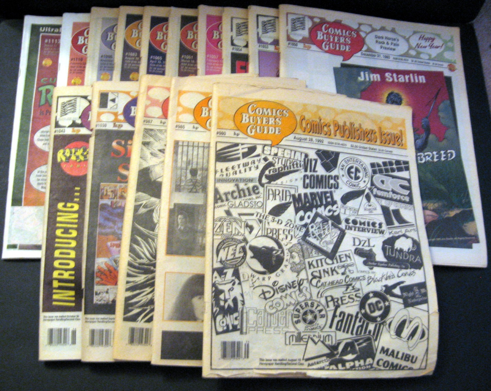 Comic Buyers' Guide Tabloid Newspaper Lot Krause Publications