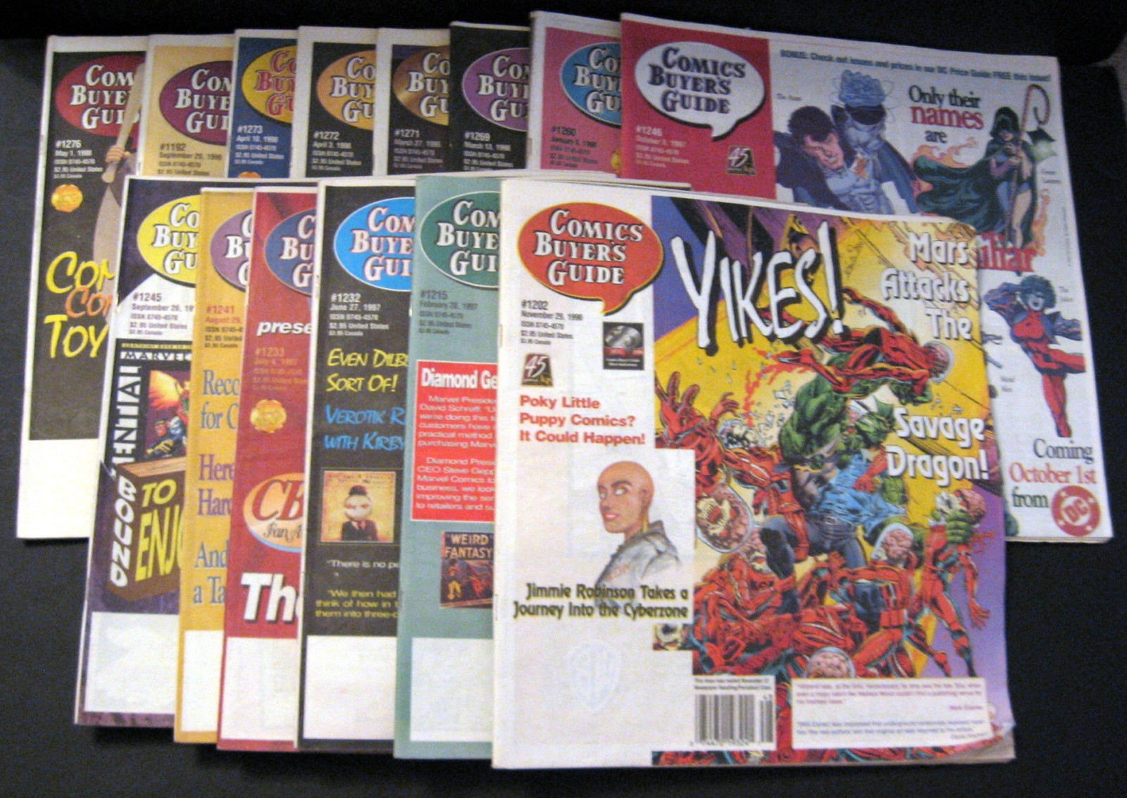 Primary image for Comic Buyers' Guide Tabloid Newspaper Lot Krause Publications