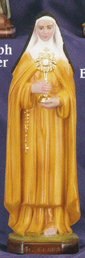St. clare of assisi 12 inch statue