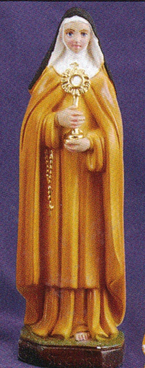 St. clare of assisi 8 inch statue