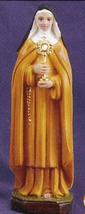 St. Clare of Assisi - 8 inch Statue