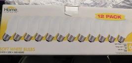 HOME LUMINAIRE 12 Pack 60 Watt Soft White  Light Bulbs  A19  INCANDESCENT  - $37.04