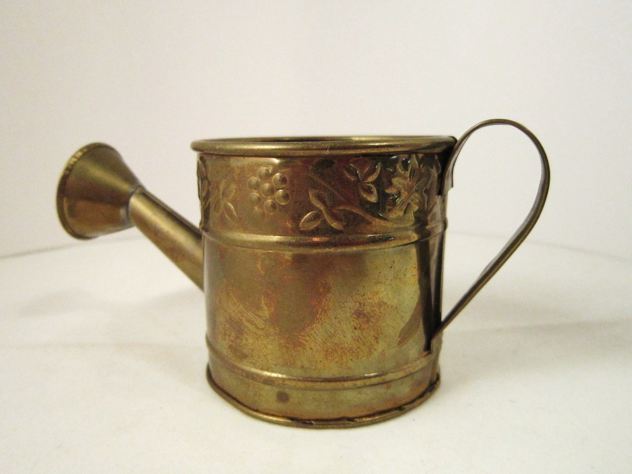 Solid Brass Watering Can with Sprinkler Spout 2.5 inch tall Metal