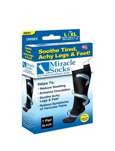 Miracle Socks Anti-Fatigue Compression Socks As Seen On TV New in the Box