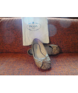 Authentic Prada Nude Laser Cut Ballet Flats w/ Bow Detail 36 - $137.61