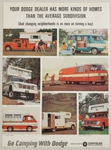 1965 Print Ad Dodge Camping Crew Cab, Van, Motor Home, A100 Pickup Truck - $11.56