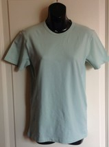 NWOT Calvin Klein Collection Seafoam Green Cotton Blend T-Shirt SZ S - $38.61