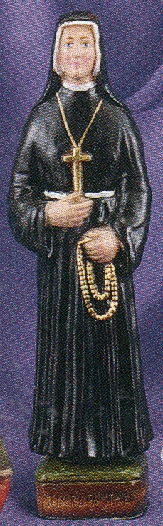 St. faustina 8 inch statue