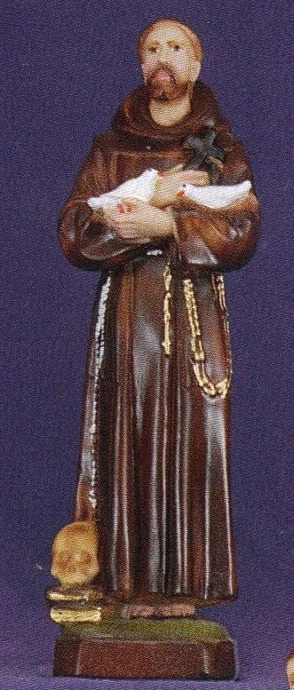 St. francis of assisi 12 inch statue