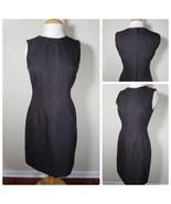 Tahari Women's Dress Brown Sleeveless Sheath Reptile Skin Textured Midi Size 8 - $37.19