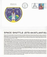 STS-84 ATLANTIS KENNEDY SPACE CENTER MAY 24 1997 WITH INSERT CARD  - $1.98
