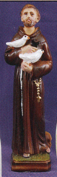 St. francis of assisi 8 inch statue