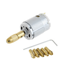 12V WL-002 Mini Micro Electric PCB Motor Drill Press Drilling Bits Tool ... - $13.80