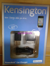 Kensington K39243US PowerBolt Car Charger - Compatible with iPod/ iPhone 4 - $9.95