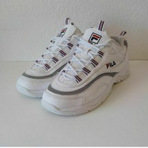 Fila Ray Sneakers Women 9.5M White Leather Laces Great Condition - $34.65