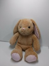 Build A Bear BABW Brown Bunny Rabbit Plush Stuffed  Pink Ears 20 Super  ... - $15.67