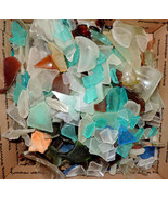 Genuine Surf Tumbled Sea Glass 12 oz. Lot mixed colors/sizes/shapes - $15.00