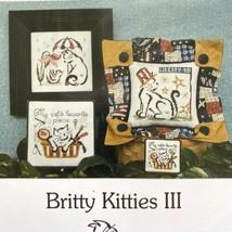 Brittercup Designs BRITTY KITTY III w/ CHARMS Cross Stitch Chart Cat Spr... - $5.94