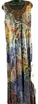 STYLE&CO Sublimation Brown Crochet Applique Women Stretch Maxi Dress S XL - $37.36