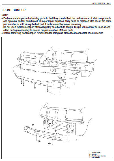 Suzuki Sq625 Service Manual