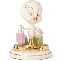Lenox Tweety's Shopping Figurine Bird Looney Tunes Born To Shop Christma... - $89.98