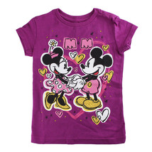 "Disney Store Girls Mickey & Minnie Mouse ""M+M"" Hearts of Gold T-Shirt, P... - $15.00"
