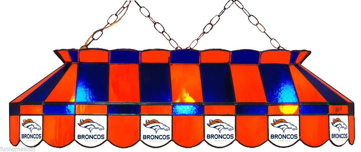 Denver Broncos Nfl 40 Quot Stained Glass Billiard Pool Table