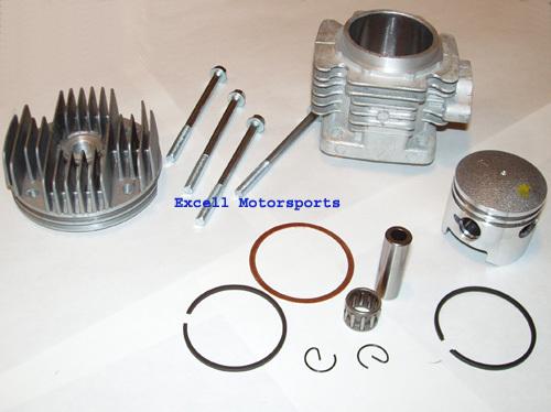 Mini Pocket Dirt Bike Cylinder Big Bore Upgrade 47cc 49cc COOLSTER QG-50 Parts