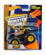 Hot Wheels Monster Jam 1:64 Scale Truck with Stunt Ramp - Team Hot Wheel... - $19.79