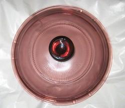 "Pyrex Cranberry Vision ware round sauce lid 6.5"" rim 5.5""  V 1 C 33 - $12.86"