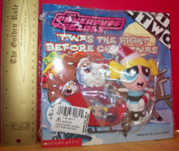 Powerpuff Girls Plush Toy Set Christmas Holiday Book Gift Doll Mini Sant... - $18.99