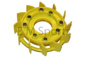 Atv Quad Go Kart Engine Motor Fan Cover Fan Blade Parts 50cc Yellow