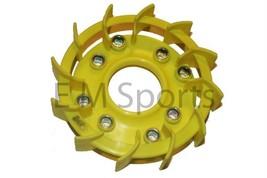 Atv Quad Go Kart Engine Motor Fan Cover Fan Blade Parts 50cc Yellow image 3