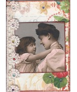 ACEO ATC Art Collage Women Mother Ladies Child Daughter Sister Family Mama Hug - $5.00