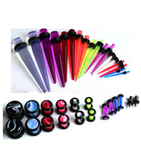 36pc Ear Stretching Kit 18 Tapers 18 Plugs 00g 0g 2g 4g 6g 8g 10g 12g 14... - $21.99