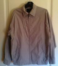 Authentic Bill Blass Black Label Basic Khaki Jacket Sz M 85% polyester 1... - $68.31