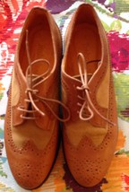 NWOB Timberland Lace Up Caramel Leather w/ Suede Insert Detail Wing Tips  SZ 6 M - $98.01