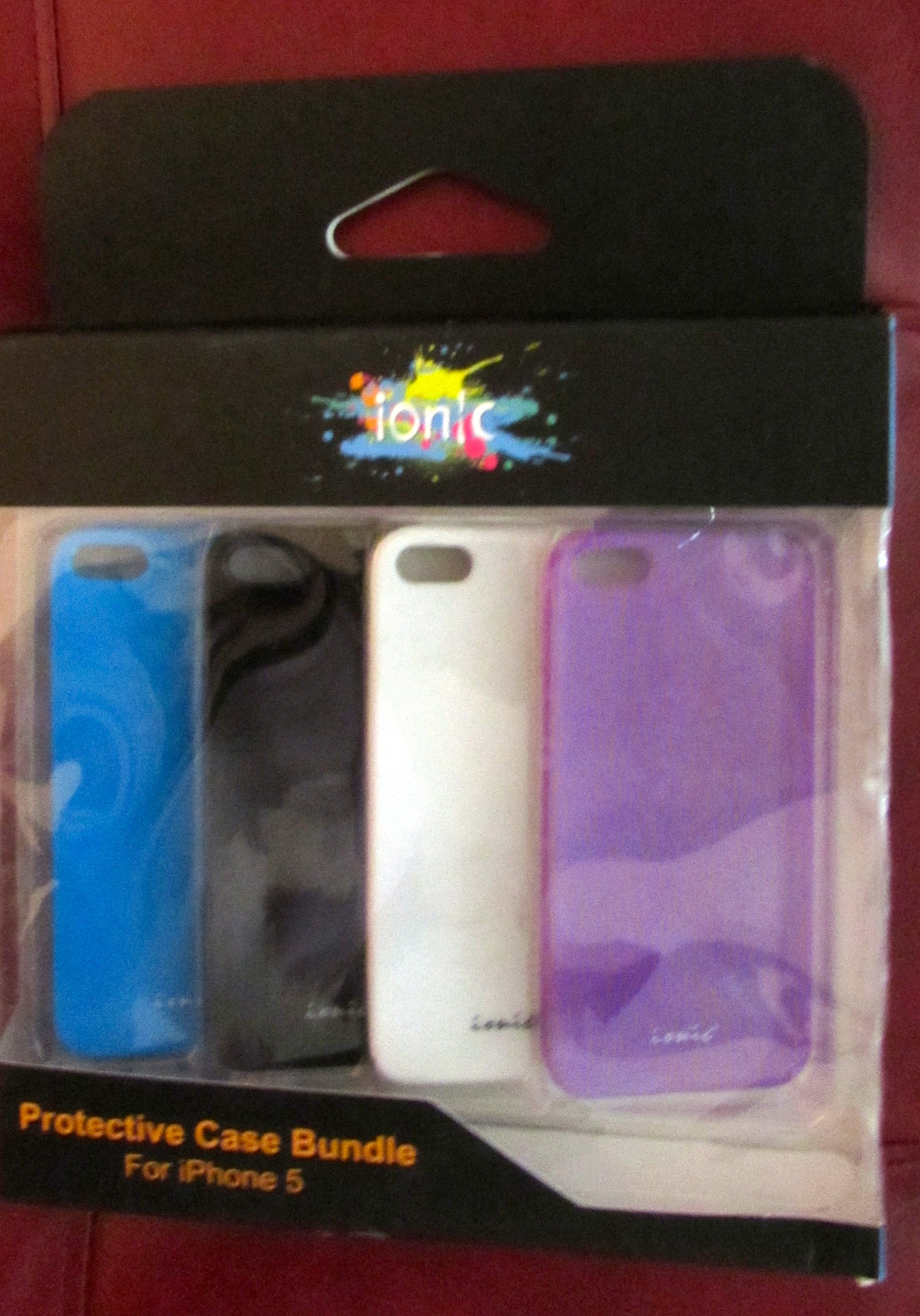 Ionic 4 SLIM Slider Cases with Screen Protector for iPhone 5