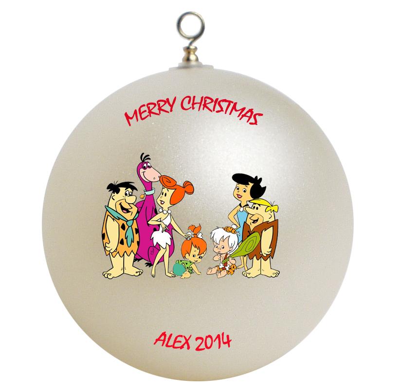 Personalized the flintstones christmas ornament gift for Christmas ornaments to make for gifts