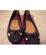 Michelle D 8.5 M Patent Leather Flats Marine Blue Brand New in Box  - $49.99