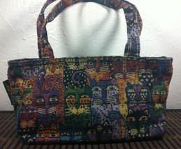 Laurel Burch Small Woven Tapestry Kitty Cat Purse Handbag Nice! - $19.99