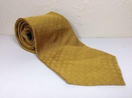 Ralph Lauren Necktie Tie Hand Finished Imported 100% Silk Yellow Gold - $11.99