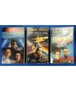 3 Books Lot DS9 Star Trek Deep Space Nine Seige Betrayal Warped Peter David - $15.00