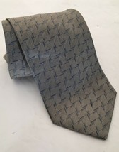 Giorgio Armani Cravatte Men's Luxury Gray Geometric Silk Tie Made In Italy  - $23.75