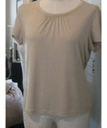 J M Collection Tunic Top Soft Beige Knit  Size ... - $17.00